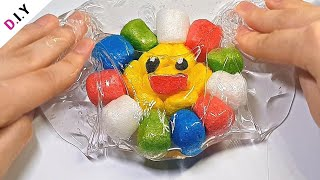 SLIME) 이런 꽃은 없었다.. 플레이콘 플라워 슬라임🌈 | 액괴 실험 | Slime + Playcorn Flower  スライム+コーンミール