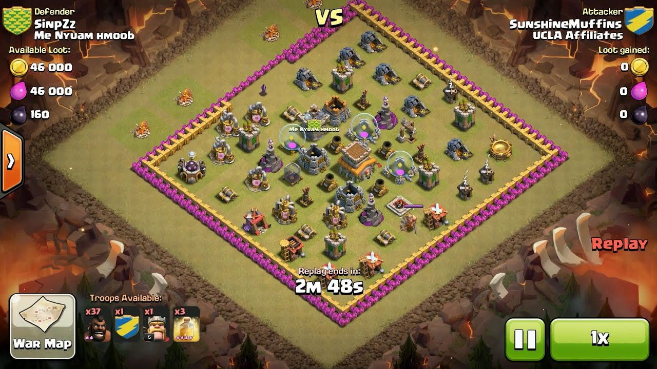 Hog Rider 360 Search Results For Clash Of Clans Th7 Vs Th7 Hog Rider