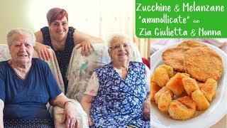 """ZUCCHINE & MELANZANE AL FORNO IMPANATE """"ammollicate"""" - Ricetta Facile con ZIA GIULIETTA 😘"""