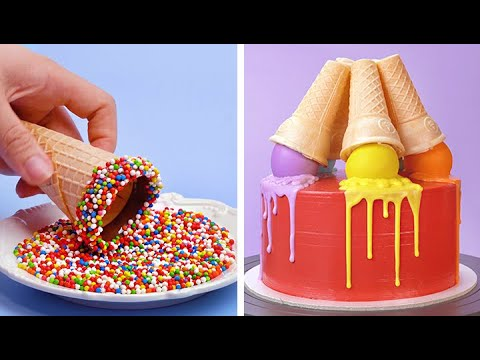 Easy Making Colorful Cake Decorating Tutorials You Need To Try Today | So Yummy Cake Recipes