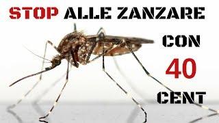 Liberarsi dalle zanzare con 40 centesimi