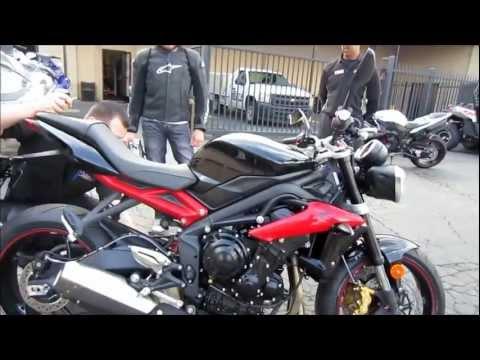 How To Break In A Brand New Motorcycle Break In Period Tips 2013 Triumph Street Triple R 675cc VLOG