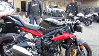 How To Break In A Brand New Motorcycle Break In Period Tips 2013 Triumph Street Triple R 675cc VLOG