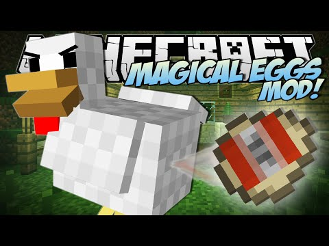 Minecraft | MAGICAL EGGS MOD (TNT Eggs, Instant House Eggs & More!) | Mod Showcase