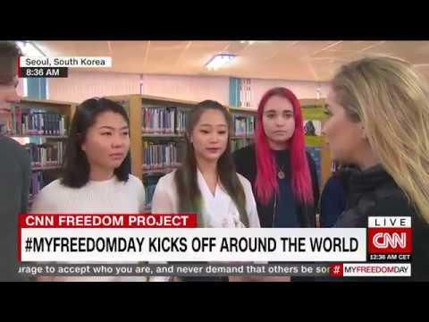Seoul Foreign School LIVE on CNN International #MYFREEDOMDAY
