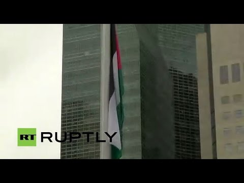 LIVE and REFEED: Palestinian flag flies at the UN headquarters