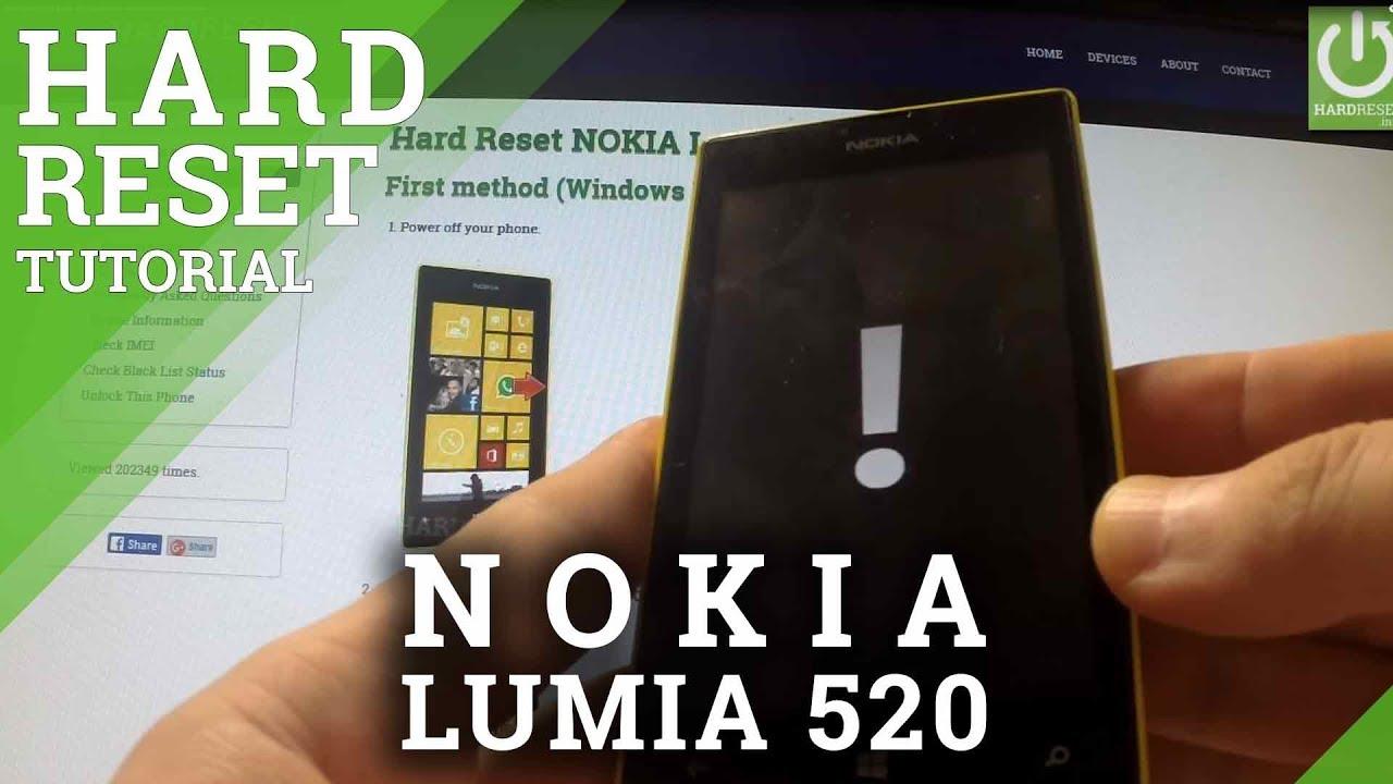 Hard Reset NOKIA Lumia 520 - HardReset info