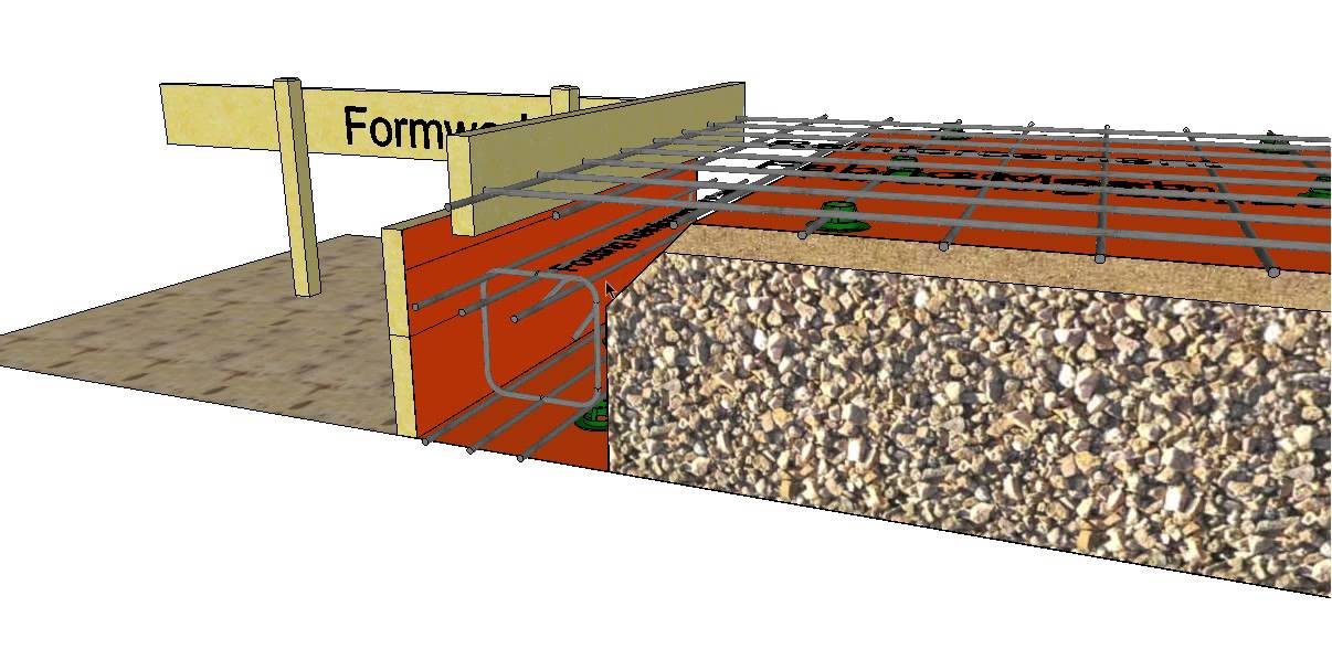 Section Through A Brick Veneer Slab On Ground Building