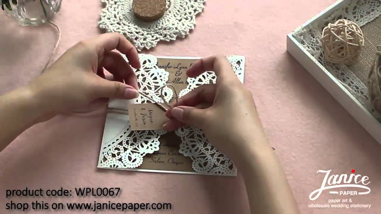 4 of DIY Laser-cut Invite to Matches Multi Themes - JanicePaper