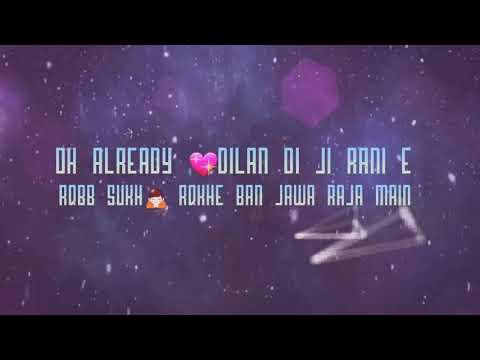 King Queen The Landers Punjabi Whatsapp status and lyrics video