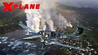 X Plane 11   AEROBASK DIAMOND DA-62   HAWAII VOLCANOS   VFR