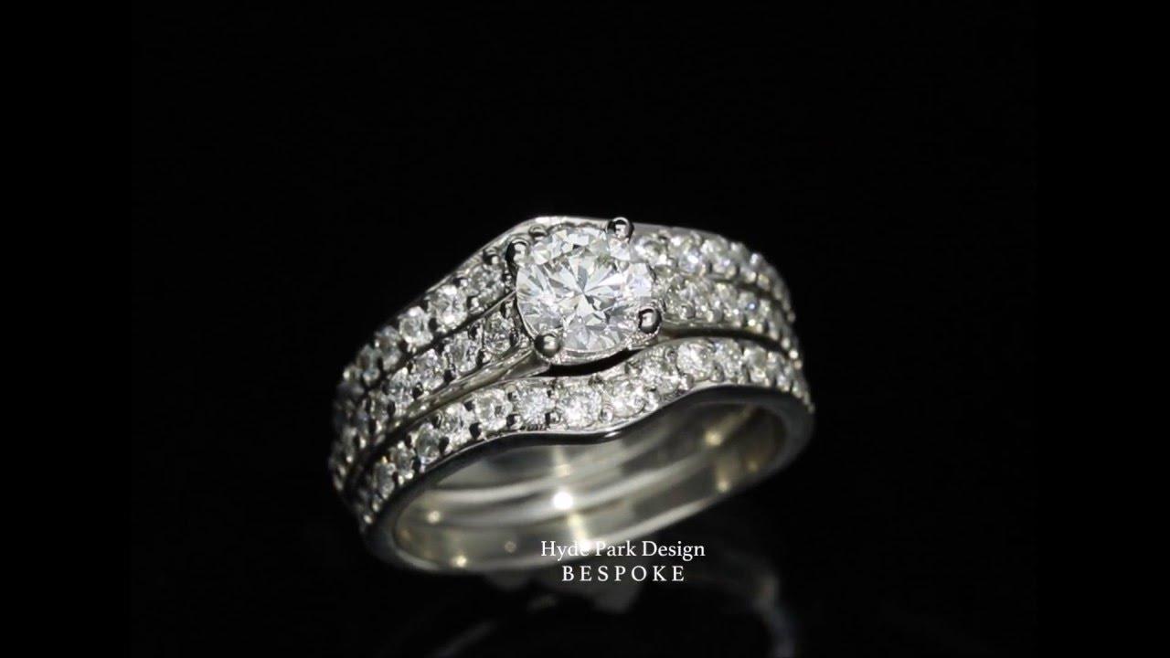 817da70a4 Diamond Engagement & Wedding Ring in a Custom Jacket Setting - YouTube