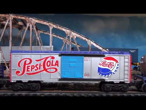 Modelling Railroad Train Track Plans -Great Concepts For K-Line pepsi cola train set