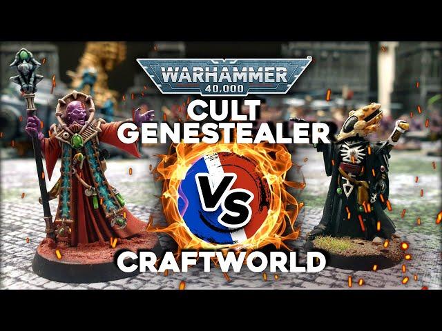 RAPPORT DE BATAILLE WARHAMMER 40000 Cult Genestealer VS Craftworld