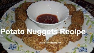 Cheesy Potato Nuggets Recipe | Quick and Easy way to make Potato Nuggets at home | Food Recipe |