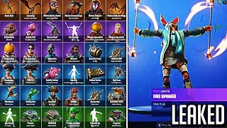 ALL UPDATE v8.20 LEAKS: New Fortnite Skins + Emotes Gameplay, New Map Changes, Volcano Event Leaked!