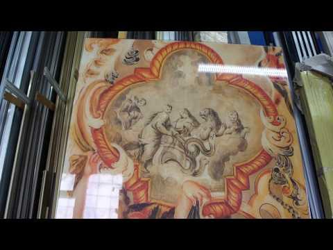 Фотопечать на стекле. ФРЕСКА античная. Photo printing on a glass fresco