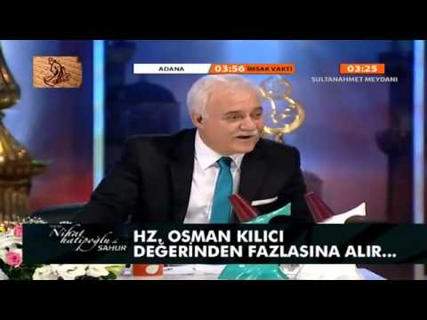 Nihat Hatipoğlu   Hz  Osman   Sahur   28 Temmuz 2013