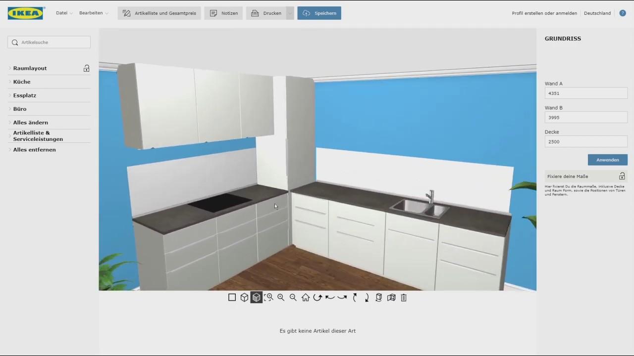 IKEA 3D Metod Küchenplaner - Ecklösung mit einem Hochschrank