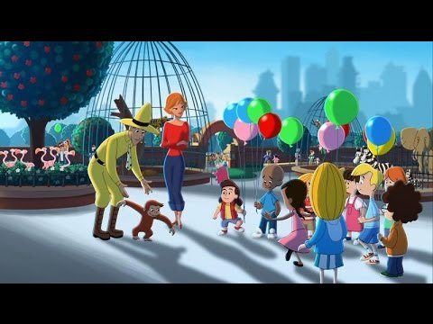 Curious George flies on balloons - YouTube
