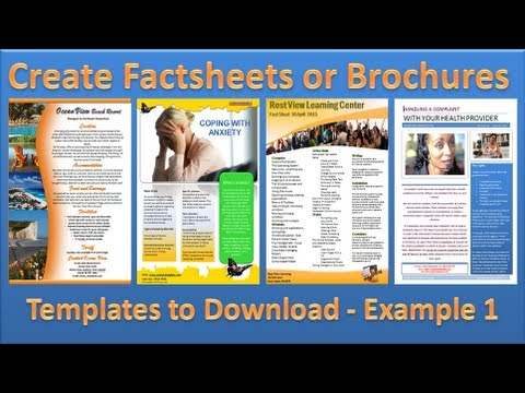 make brochure how to make brochures in microsoft word 2010