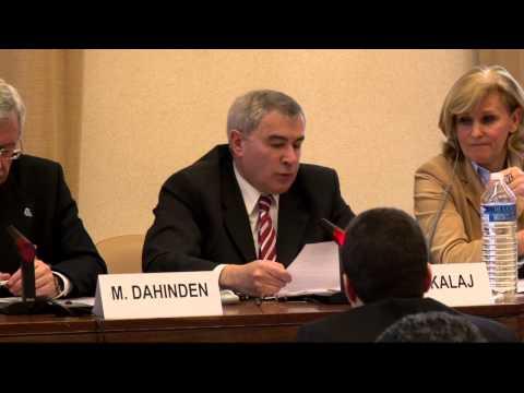 Sven Alkalaj, UNECE, addresses the Geneva meeting on water in the Post-2015 Development Agenda