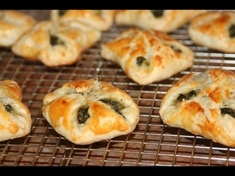 feuilletées-aux-Épinards---spinach-puff-pastry-squares---مورقة-بالسبانخ