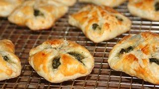 Recette Feuilletées Aux Épinards - Spinach Puff Pastry Squares Recipe - Recettes Maroc