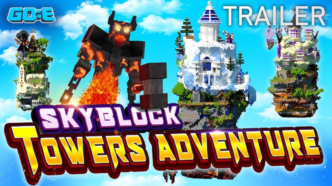 SkyBlock Mal anderes - Skyblock Towers Adventure - Bedrock - Trailer German