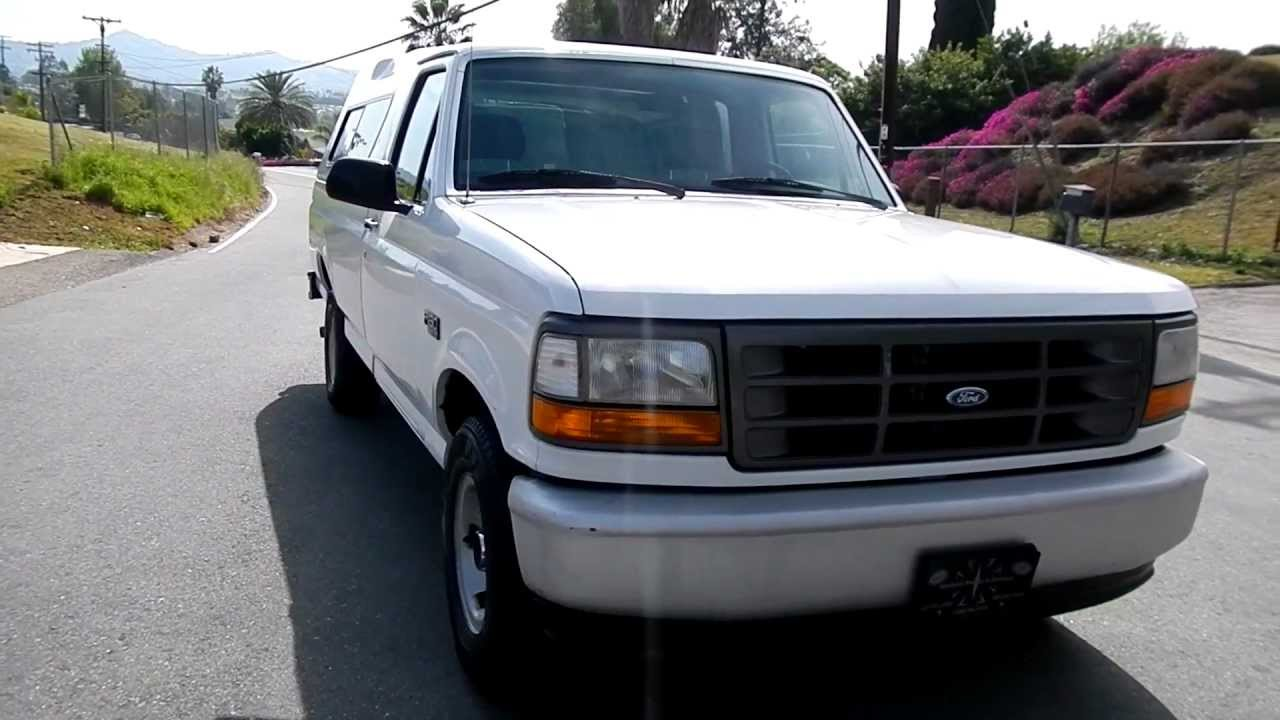 1 owner 1995 ford f 150 pickup truck 4 9l manual a c clean for sale youtube