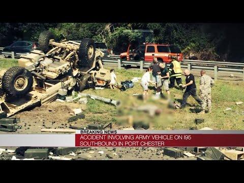 Military vehicle involved in fatal NY crash