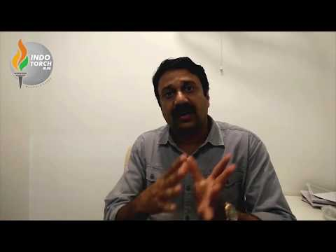 Ashish jadhav (Editor at Maharashtra 1) supports Zero Food Waste cause of Indo Torch Run 2017