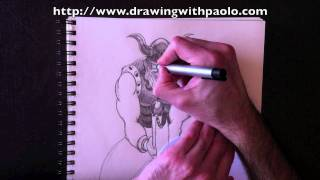 Drawing a Viking with Paolo Morrone