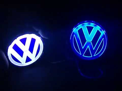 teknoartes insignias luminosas vw de acrilico y led youtube. Black Bedroom Furniture Sets. Home Design Ideas