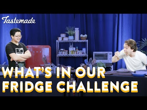 What's In Our Fridge Challenge With Hudson Yang l Frankie Celenza