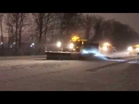NYSDOT plowing Adirondack Northway March 2 early morning