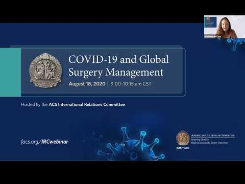 COVID-19 and Global Surgery Management Webinar