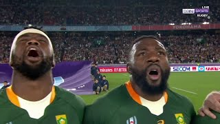 South Africa sing their national anthem with immense pride before playing Wales | RWC 2019 Moments