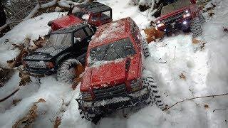 Rc Трофи-Рейд по Первому Снегу на Радиоуправляемых Машинах