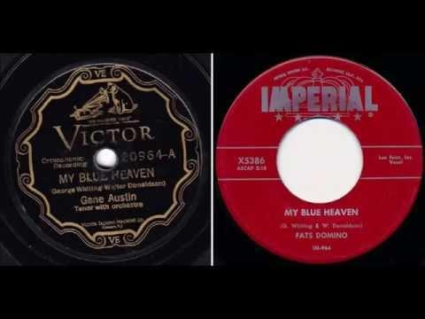 Gene Austin - My Blue Heaven vs Fats Domino - My Blue Heaven