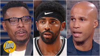 Paul Pierce & Richard Jefferson react to Kyrie Irving's comments about absence from Nets | The Jump