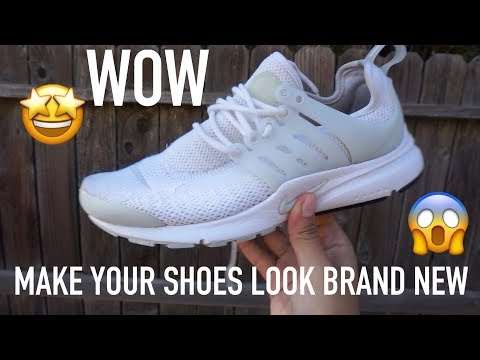 HOW TO CLEAN WHITE SHOES !!
