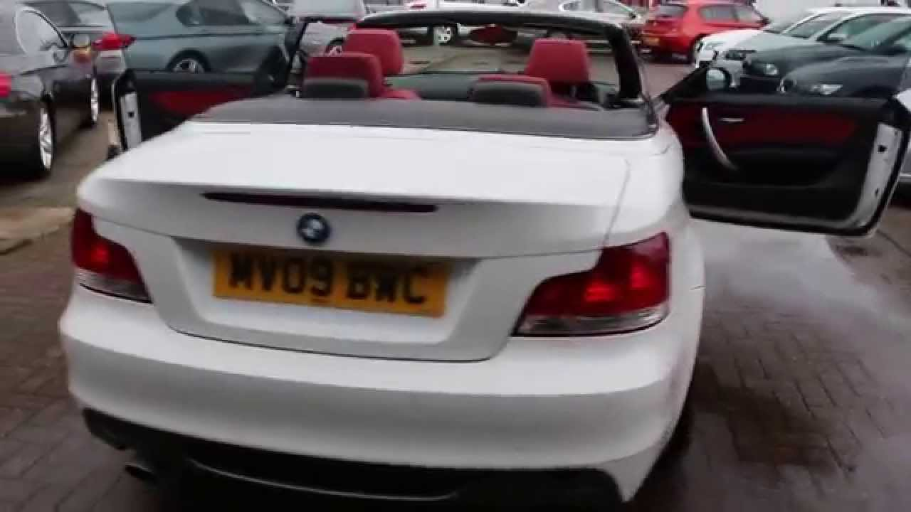 Bmw 118d M Sport Convertible Finished In Alpine White With Red Leather Interior At Rix Motor