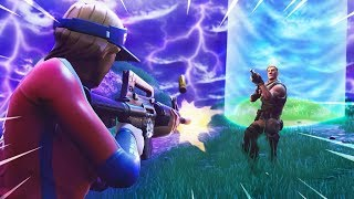 NEAR CHOKE 1v1 STORM FIGHT - FORTNITE WIN!!