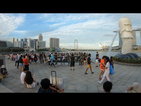⁴ᴷ⁶⁰ Singapore Walking (Marina Bay Sands | Merlion | Padang)