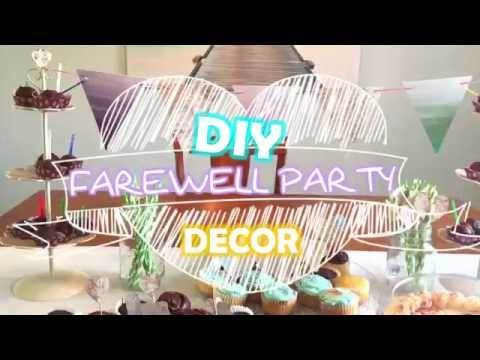 Diy Farewell Party Decor Moving Going Away Goodbye Party