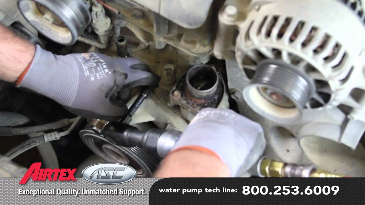 how to install a water pump 2003 96 ford f 250 7 3l v8 diesel wp 9128 aw4119 [ 1280 x 720 Pixel ]