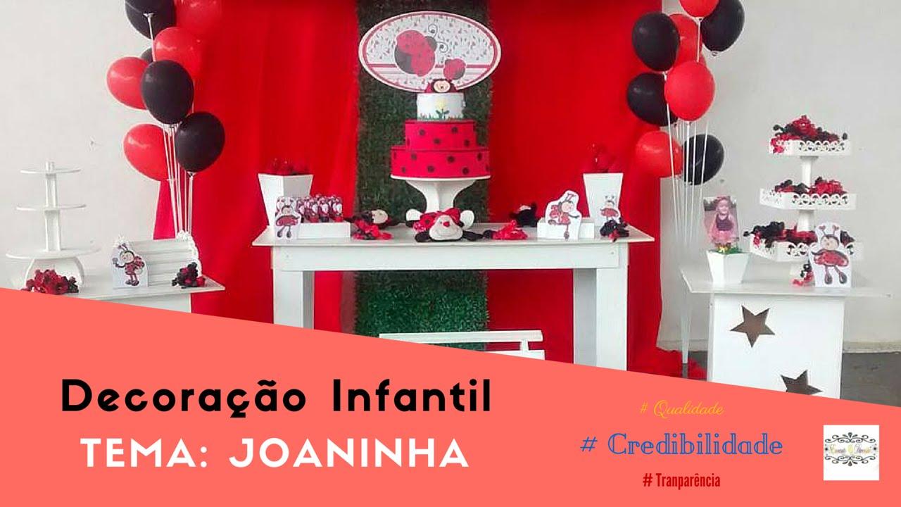 Decoração Youtube ~ Decoraç u00e3o Infantil Joaninha YouTube