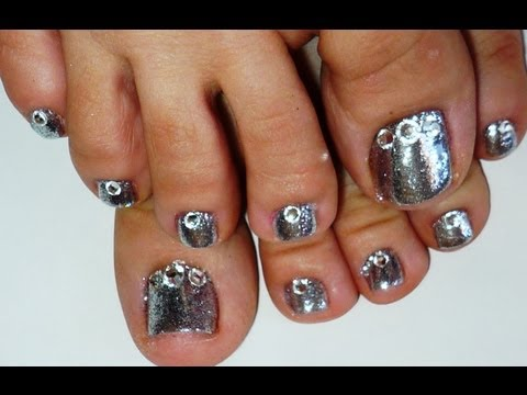 Rock Star  Toe Nails 1 Using SensatioNail Invincible Gel Polish Starter Kit