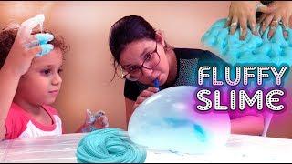 Slime satisfatório super fácil  fluffy